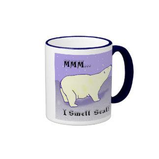 ¡Sello del olor de MMM… I! Taza del oso polar