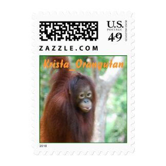 Sello del orangután de Krista