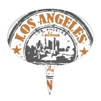 Sello del orgullo de Los Ángeles California Figura Para Tarta