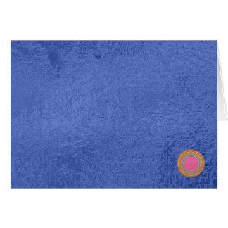 Sello del oro Art101 - espacios en blanco azules Tarjeta De Felicitación