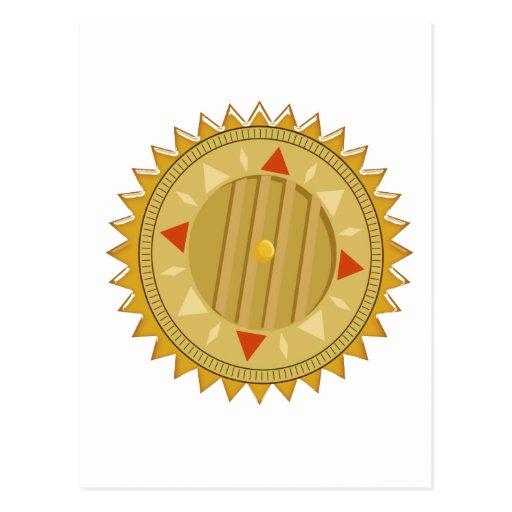 SELLO del oro: Compás de Sun CHAKRA
