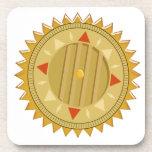 SELLO del oro: Compás de Sun CHAKRA Posavasos