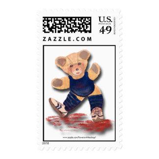 Sello del oso de peluche del ejercicio