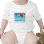 Sello del paraguas, de la playa y del océano traje de bebé
