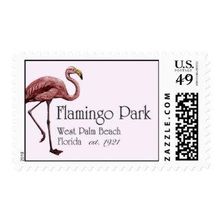 Sello del parque del flamenco
