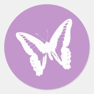 Sello del pegatina del sobre de la mariposa de la