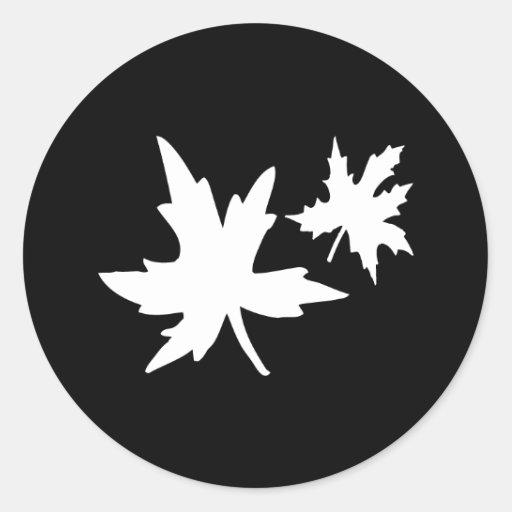 Sello del pegatina del sobre de las hojas de otoño