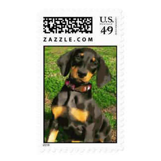 Sello del perrito del Doberman (versión 9-3)