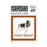 Sello del perro de cocker spaniel para las letras