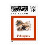 Sello del perro de Pekingnese para las letras