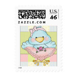 Sello del polluelo del bebé rosado y azul