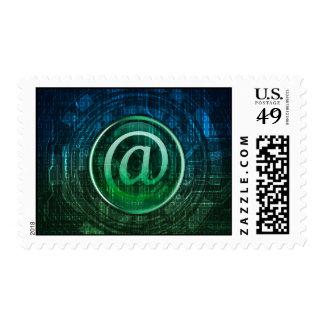 sello del poste del tema del correo electrónico