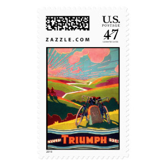 Sello del poster de la bicicleta de Triumph del
