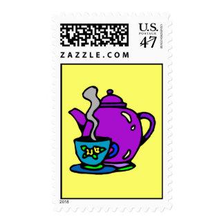 Sello del pote y de la taza del té