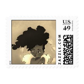 Sello del retrato del Afro