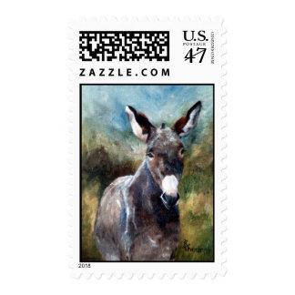 Sello del retrato del burro