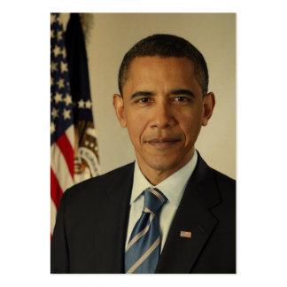 Sello del RETRATO presidencial de Barack Obama Nos Tarjetas De Visita Grandes