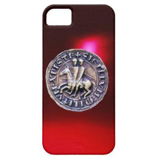 SELLO del rojo Borgoña de los CABALLEROS TEMPLAR iPhone 5 Case-Mate Protectores