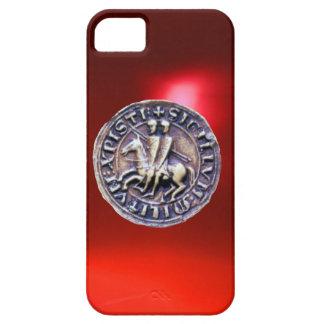 SELLO del rojo de los CABALLEROS TEMPLAR iPhone 5 Case-Mate Protector