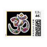 Sello del símbolo de la yoga de OM Aum Namaste