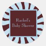 Sello del sobre de la fiesta de bienvenida al bebé pegatina redonda