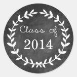 Sello del sobre de la graduación del laurel de la  etiquetas
