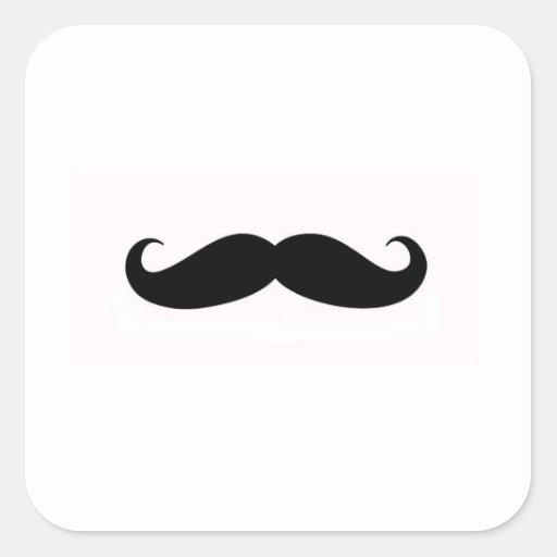 Sello del sobre del bigote pegatinas cuadradases personalizadas