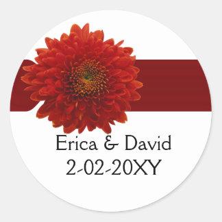sello del sobre del boda de la caída pegatina redonda
