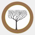 Sello del sobre del boda del árbol de 20 caídas etiqueta redonda