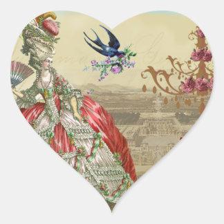 Sello del sobre del de Versalles de los recuerdos Pegatina En Forma De Corazón