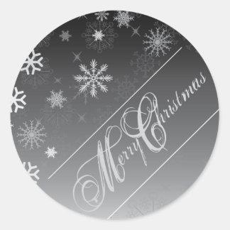 Sello del sobre del navidad pegatina redonda