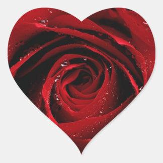 Sello del sobre del rosa rojo calcomanías de corazones