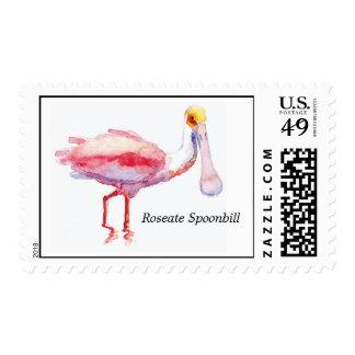 Sello del Spoonbill rosado