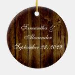 Sello del tarro de albañil en tablón de madera osc adorno de navidad
