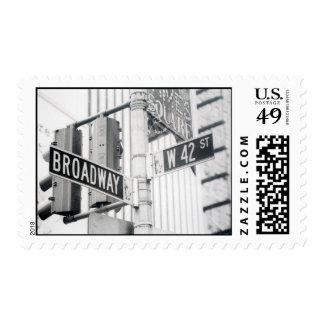 Sello del Times Square de Broadway