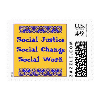 Sello del trabajo social del cambio social de la j