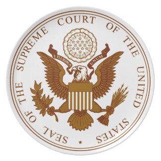 Sello del Tribunal Supremo de los E.E.U.U. Plato De Cena