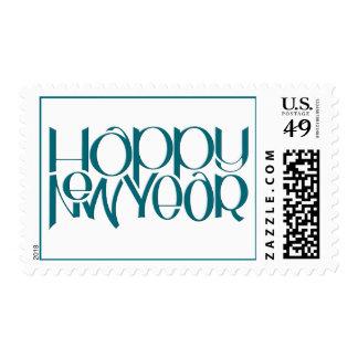 Sello del trullo de la Feliz Año Nuevo