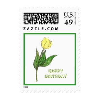 Sello del tulipán del cumpleaños