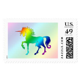 Sello del unicornio del arco iris