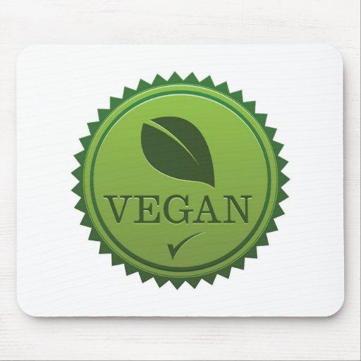 Sello del vegano alfombrillas de ratón