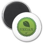 Sello del vegano imán