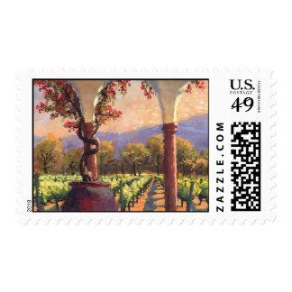Sello del viñedo del vino
