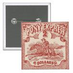 Sello del vintage de Pony Express Pin