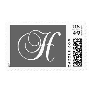 Sello elegante del monograma H para los bodas