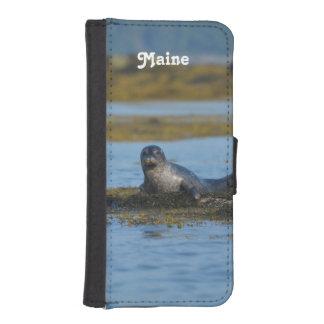 Sello en la bahía Maine de Casco Fundas Tipo Billetera Para iPhone 5