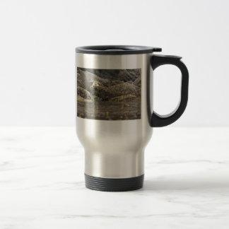 Sello en la isla de la península taza de café