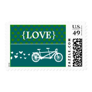 Sello en tándem del amor del lunar de la bici