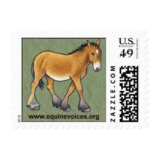 Sello equino de la mascota de Gulliver de las voce
