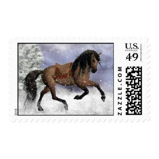 Sello equino del invierno del caballo